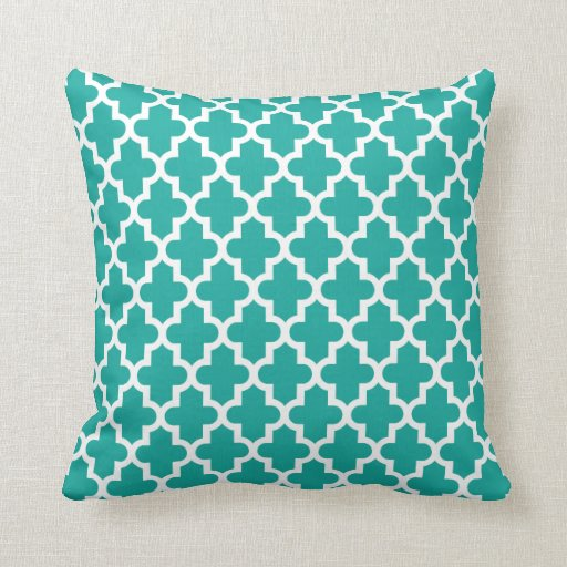 motif marocain moderne turquoise coussin zazzle. Black Bedroom Furniture Sets. Home Design Ideas