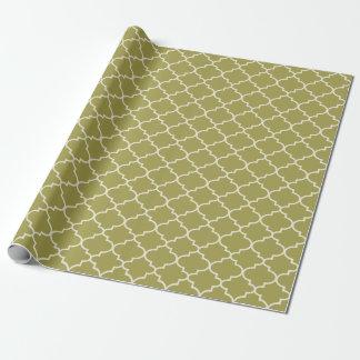 Motif marocain vert de trellis papier cadeau noël