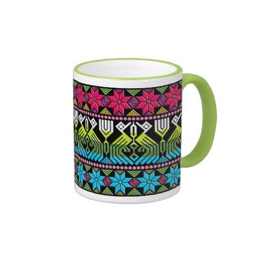 Motif maya coloré mug ringer