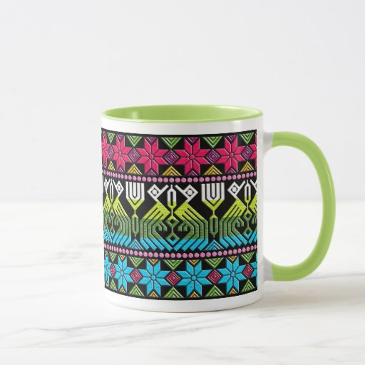 Motif maya coloré mugs