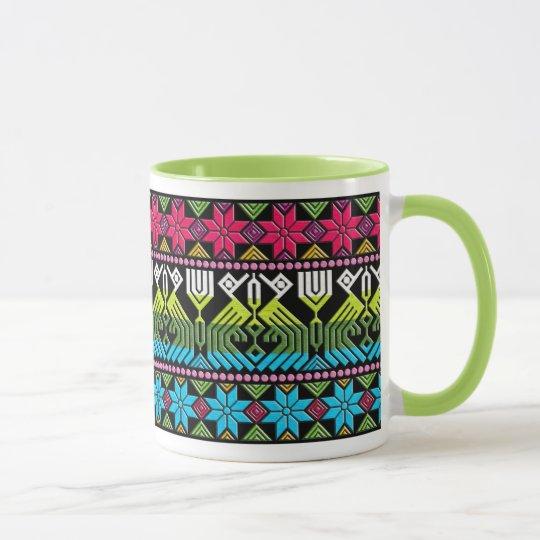 Motif maya coloré mugs