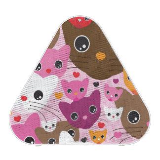 motif mignon d'arrière - plan de chat de chaton haut-parleur bluetooth