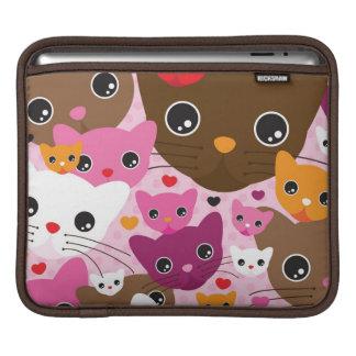 motif mignon d'arrière - plan de chat de chaton housses iPad