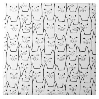 Motif mignon de chats carreau