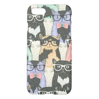 Motif mignon de chats de hippie coque iPhone 7