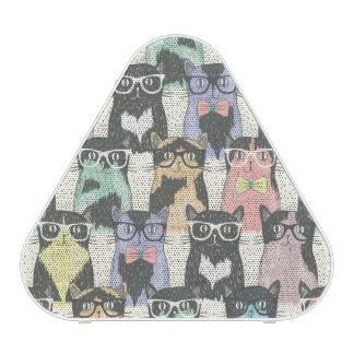 Motif mignon de chats de hippie haut-parleur bluetooth