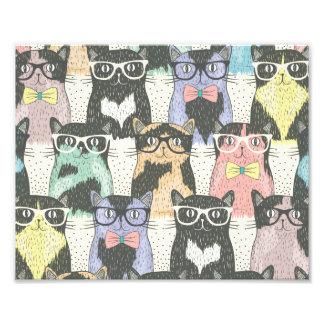 Motif mignon de chats de hippie photo sur toile