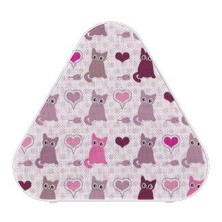 Motif mignon de filles de chaton haut-parleur bluetooth