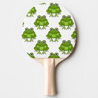 Motif mignon de grenouille raquette de ping pong