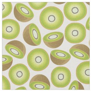 Motif mignon de kiwi de coupe tissu