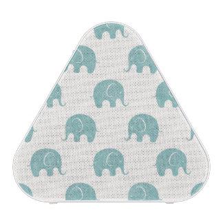 Motif mignon turquoise d'éléphant haut-parleur bluetooth