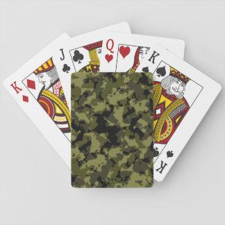 Motif militaire de style de camouflage cartes à jouer