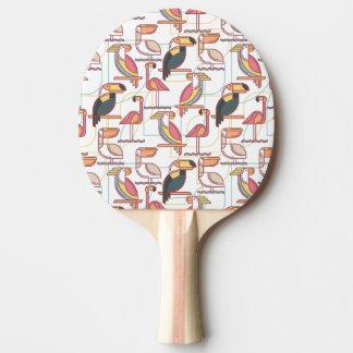 Motif moderne avec les oiseaux tropicaux raquette tennis de table