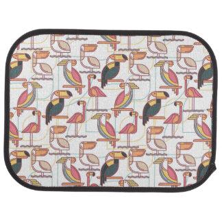 Motif moderne avec les oiseaux tropicaux tapis de sol