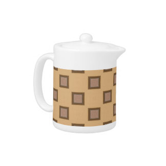 Motif moderne carré Brown de kaléidoscope et beige