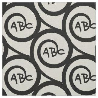 Motif moderne de spirale de monogramme de graffiti tissu