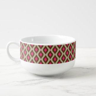 Motif moderne d'ikat mug à soupe