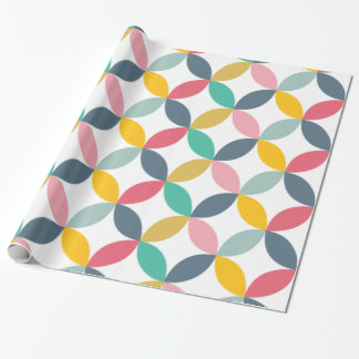 Motif moderne géométrique coloré papier cadeau noël
