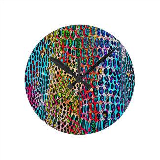 Motif modifié la tonalité par automne artistique horloge ronde