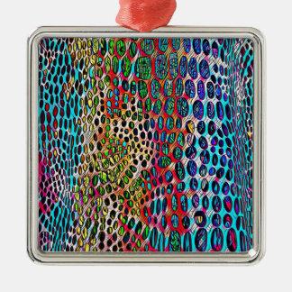Motif modifié la tonalité par automne artistique ornement carré argenté