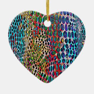 Motif modifié la tonalité par automne artistique ornement cœur en céramique