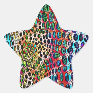 Motif modifié la tonalité par automne artistique sticker étoile