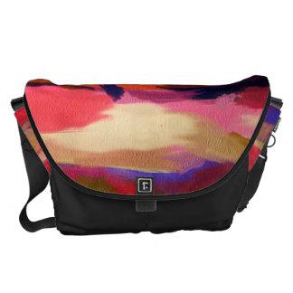 Motif multicolore abstrait d aquarelle besaces