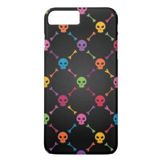 Motif multicolore avec des crânes coque iPhone 7 plus