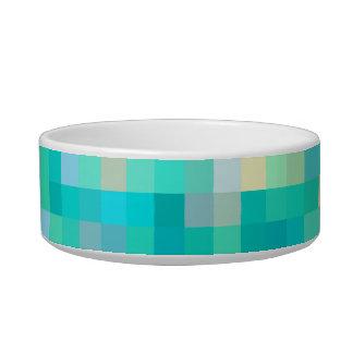 Motif multicolore d'art de pixel écuelle pour chat