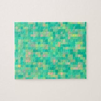 Motif multicolore d'art de pixel puzzle
