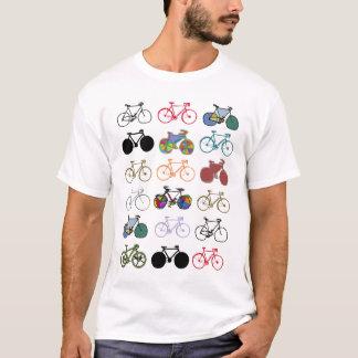 motif multicolore de bicyclettes t-shirt