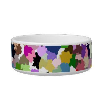 Motif multicolore écuelle pour chat