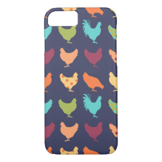 Motif multicolore génial de poulet coque iPhone 7