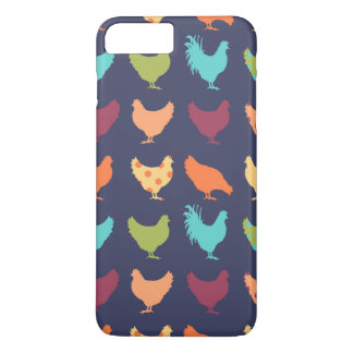 Motif multicolore génial de poulet coque iPhone 7 plus