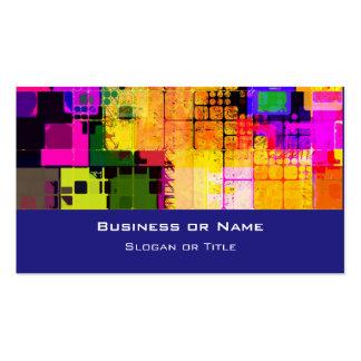 Motif multicolore géométrique carré carte de visite standard