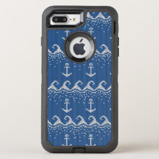 Motif nautique de Knit Coque OtterBox Defender iPhone 8 Plus/7 Plus