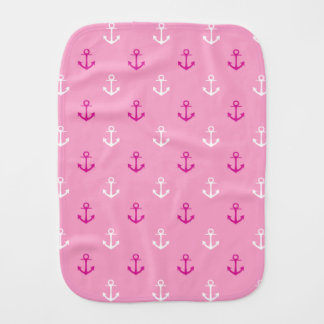 Motif nautique de rose et blanc d'ancres linge de bébé