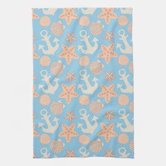 Motif nautique en pastel serviette éponge