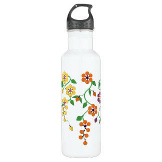 Motif NO.2 : Bouteille d'eau accrochante de fleurs