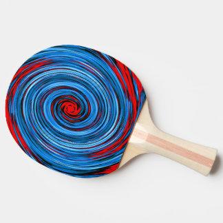Motif noir blanc d'abrégé sur remous de rouge bleu raquette tennis de table