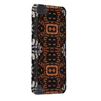 Motif noir d'abrégé sur gris de Brown Coque iPod Touch 5G