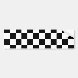 Motif noir de damier autocollant pour voiture