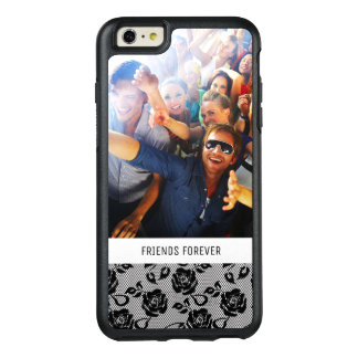 Motif noir de dentelle faite sur commande de photo coque OtterBox iPhone 6 et 6s plus