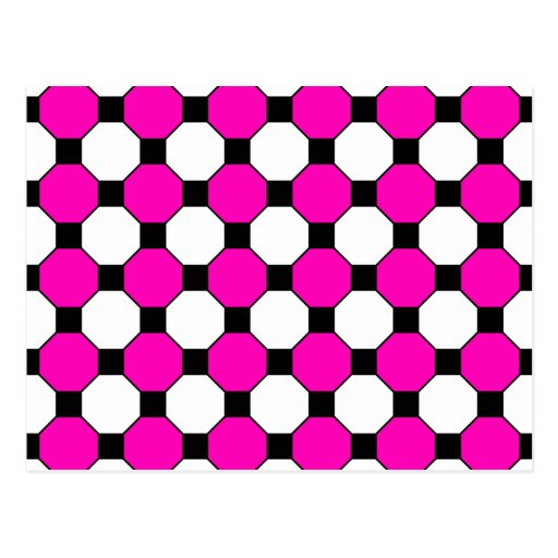 Motif noir d'hexagones de carrés blancs de roses i cartes postales