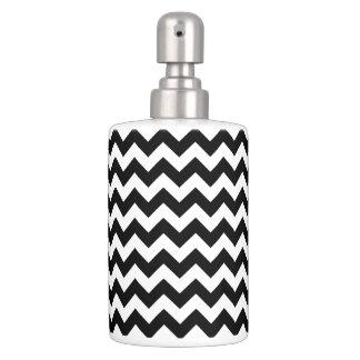 Motif noir et blanc de Chevron de zigzag Set De Salle De Bain