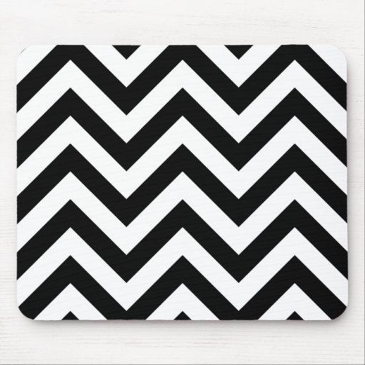 motif noir et blanc de chevrons de zigzag tapis de souris zazzle. Black Bedroom Furniture Sets. Home Design Ideas