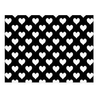 Motif noir blanc coeur cartes postales - Motif noir et blanc ...