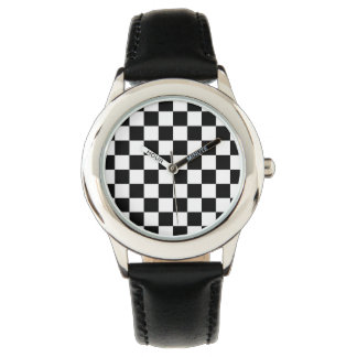 Motif noir et blanc de contrôle montres