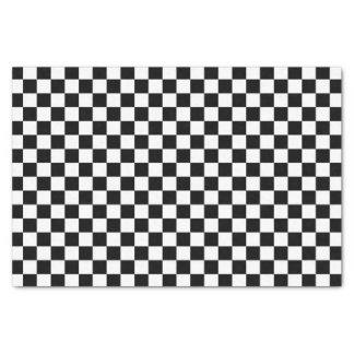 Motif noir et blanc de contrôle papier mousseline