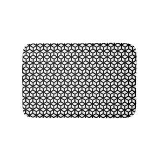 Motif noir et blanc de cube tapis de bain
